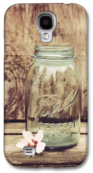 Mason Jars Galaxy S4 Cases - Vintage Ball Mason Jar Galaxy S4 Case by Terry DeLuco