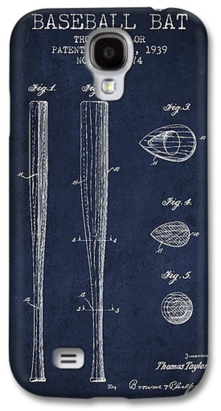 Vintage Baseball Bat Patent From 1939 Galaxy S4 Case by Aged Pixel