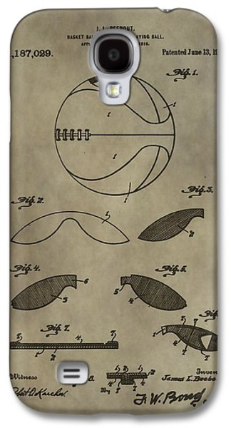 Dunk Mixed Media Galaxy S4 Cases - Vintage Basketball Patent Galaxy S4 Case by Dan Sproul