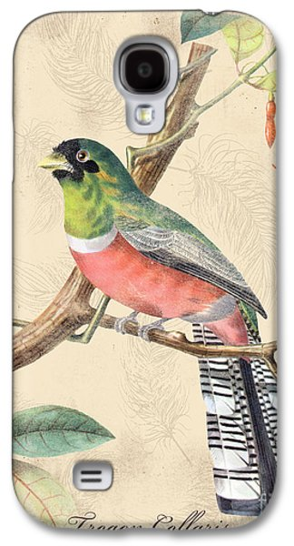 Nature Study Digital Art Galaxy S4 Cases - Vintage Bird Study-A Galaxy S4 Case by Jean Plout