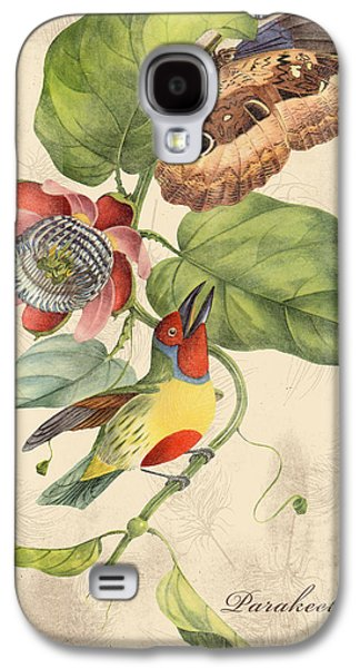 Nature Study Digital Art Galaxy S4 Cases - Vintage Bird Study-B Galaxy S4 Case by Jean Plout