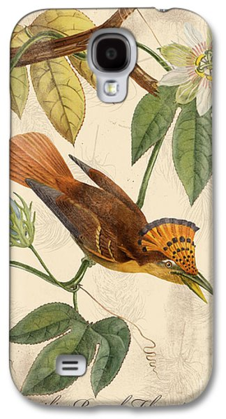 Nature Study Digital Art Galaxy S4 Cases - Vintage Bird Study-C Galaxy S4 Case by Jean Plout