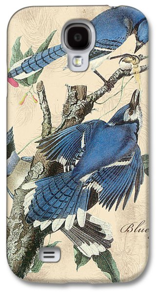 Nature Study Digital Art Galaxy S4 Cases - Vintage Bird Study-F Galaxy S4 Case by Jean Plout
