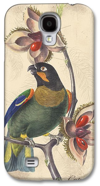Nature Study Digital Art Galaxy S4 Cases - Vintage Bird Study-G Galaxy S4 Case by Jean Plout
