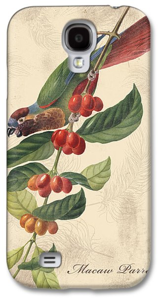 Nature Study Digital Art Galaxy S4 Cases - Vintage Bird Study-H Galaxy S4 Case by Jean Plout