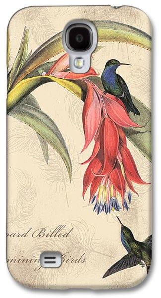 Nature Study Digital Art Galaxy S4 Cases - Vintage Bird Study-I Galaxy S4 Case by Jean Plout
