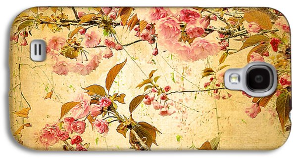 Floral Digital Digital Galaxy S4 Cases - Vintage Blossom Galaxy S4 Case by Jessica Jenney