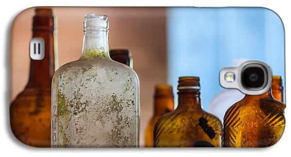 Liquor Photographs Galaxy S4 Cases - Vintage Bottles Galaxy S4 Case by Adam Romanowicz