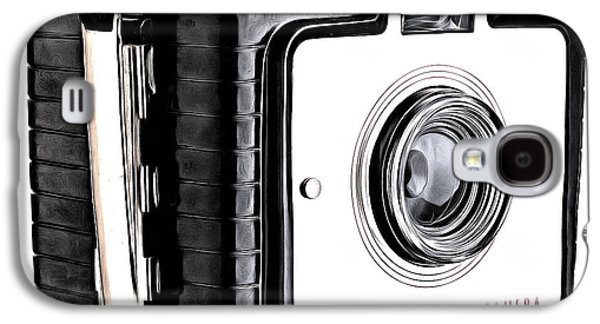 Drawing Galaxy S4 Cases - Vintage Box Camera Galaxy S4 Case by Edward Fielding