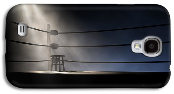 Chair Galaxy S4 Cases - Vintage Boxing Corner And Stool Galaxy S4 Case by Allan Swart