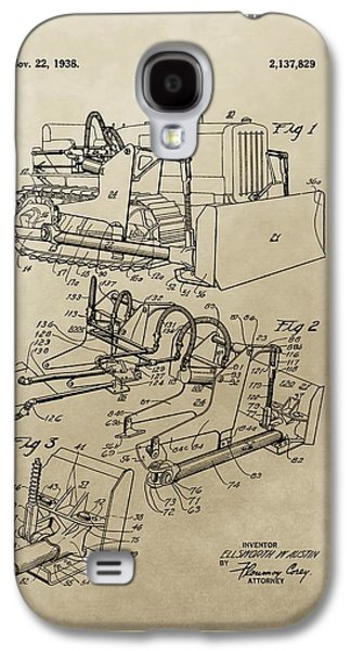 Machinery Galaxy S4 Cases - Vintage Bulldozer Patent Galaxy S4 Case by Dan Sproul