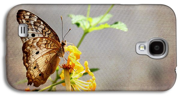 Digital Galaxy S4 Cases - Vintage Butterfly Galaxy S4 Case by Judy Vincent
