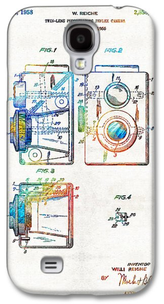 Historical Pictures Galaxy S4 Cases - Vintage Camera Art - Twin Lens - By Sharon Cummings  Galaxy S4 Case by Sharon Cummings