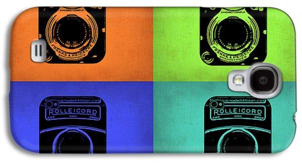 Photo Digital Art Galaxy S4 Cases - Vintage Camera Pop Art 1 Galaxy S4 Case by Naxart Studio