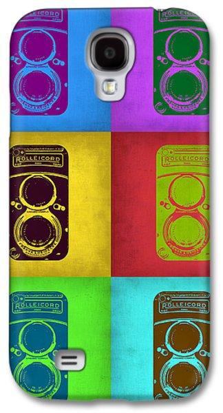 Photography Digital Art Galaxy S4 Cases - Vintage Camera Pop Art 2 Galaxy S4 Case by Naxart Studio