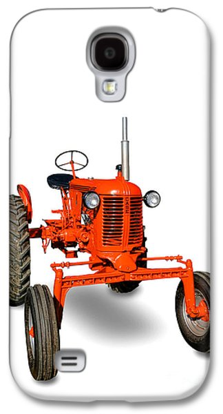Machinery Galaxy S4 Cases - Vintage Case Tractor Galaxy S4 Case by Olivier Le Queinec