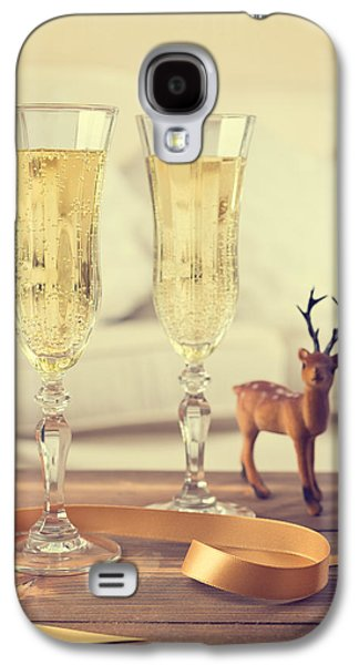 Champagne Glasses Galaxy S4 Cases - Vintage Champagne Galaxy S4 Case by Amanda And Christopher Elwell