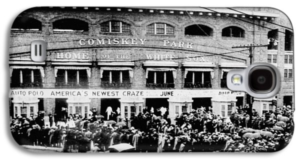 Historical Pictures Galaxy S4 Cases - Vintage Comiskey Park - Historical Chicago White Sox Black White Picture Galaxy S4 Case by Horsch Gallery
