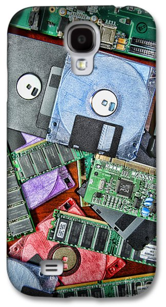 Component Photographs Galaxy S4 Cases - Vintage Computer Parts Galaxy S4 Case by Paul Ward