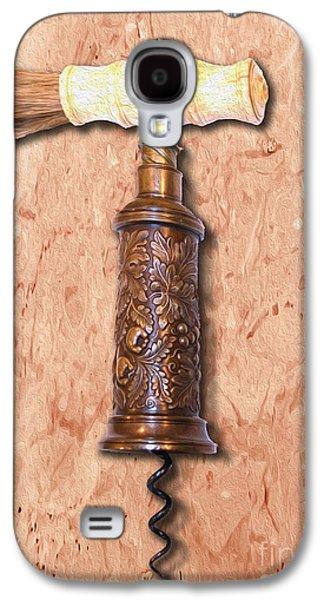 Vintage Corkscrew Painting 6 Galaxy S4 Case by Jon Neidert
