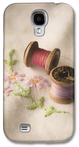 Cloth Galaxy S4 Cases - Vintage Cotton Reels Galaxy S4 Case by Jan Bickerton