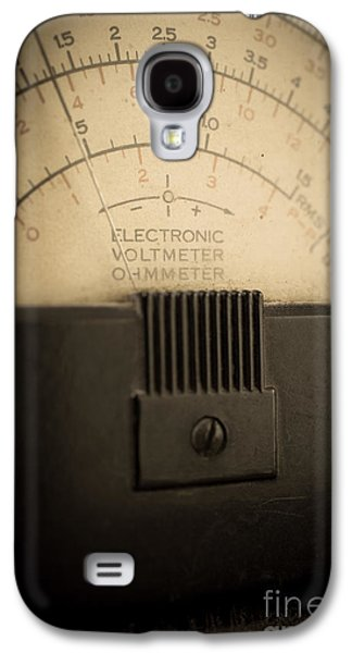 Electrical Photographs Galaxy S4 Cases - Vintage Electric Meter Galaxy S4 Case by Edward Fielding