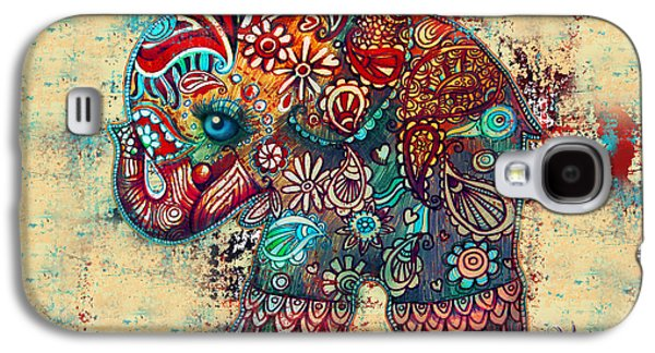 Fun Digital Galaxy S4 Cases - Vintage Elephant Galaxy S4 Case by Karin Taylor
