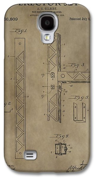 Toy Store Galaxy S4 Cases - Vintage Erector Set Patent Galaxy S4 Case by Dan Sproul