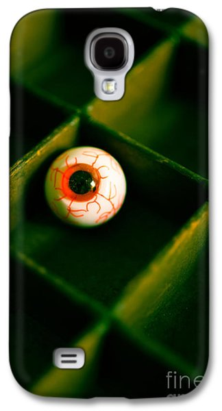 Creepy Galaxy S4 Cases - Vintage fake eyeball Galaxy S4 Case by Edward Fielding