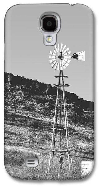 Windmill Galaxy S4 Cases - Vintage Farm Windmill Galaxy S4 Case by Christine Till