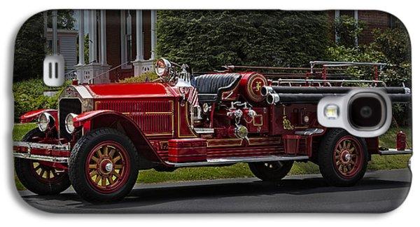 Brigade Galaxy S4 Cases - Vintage Firetruck Galaxy S4 Case by Susan Candelario