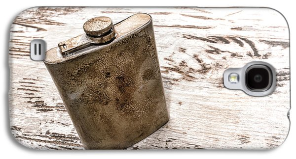 Whiskey Galaxy S4 Cases - Vintage Flask Galaxy S4 Case by Olivier Le Queinec