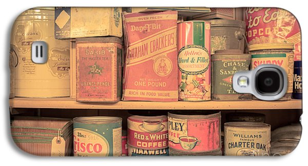 Food Stores Galaxy S4 Cases - Vintage Food Pantry Galaxy S4 Case by Edward Fielding