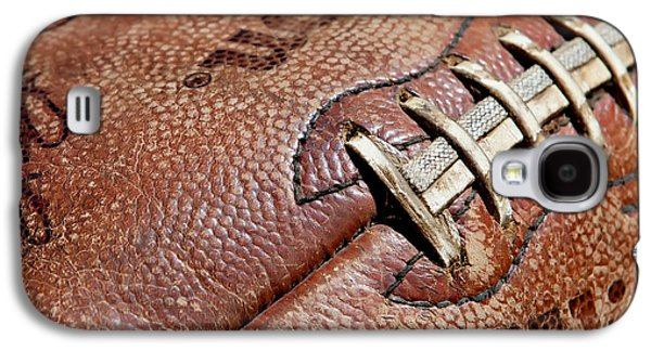 Sports Photographs Galaxy S4 Cases - Vintage Football Galaxy S4 Case by Art Block Collections