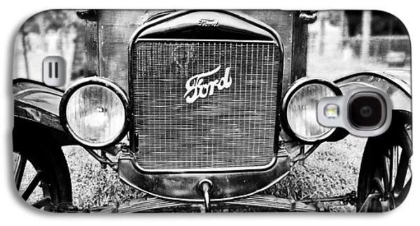 Original Photographs Galaxy S4 Cases - Vintage Ford in Black and White Galaxy S4 Case by Colleen Kammerer