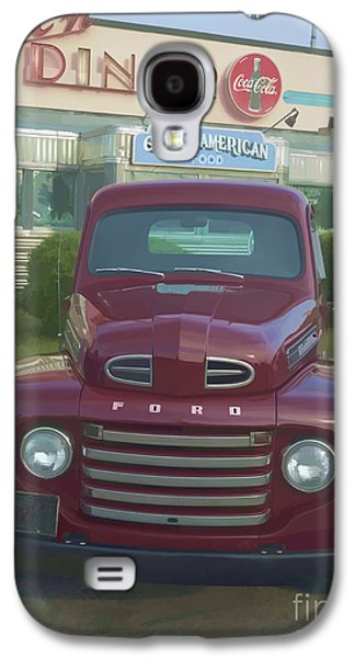 50s Photographs Galaxy S4 Cases - Vintage Ford Truck outside the Tiltn Diner Galaxy S4 Case by Edward Fielding