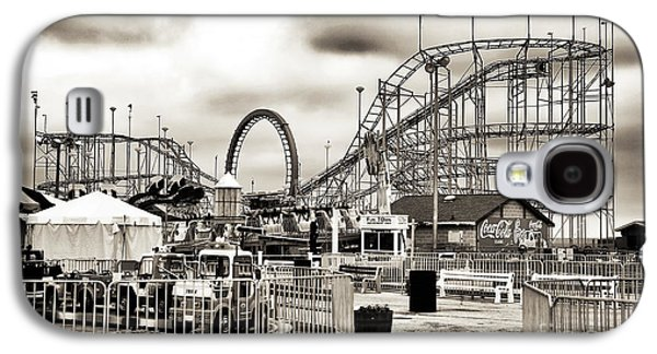 Seaside Heights Galaxy S4 Cases - Vintage Funtown Galaxy S4 Case by John Rizzuto