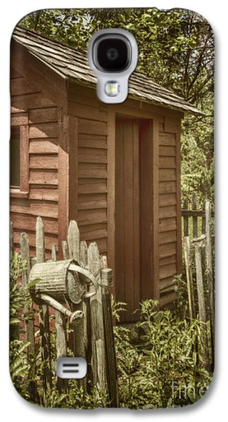 Shed Galaxy S4 Cases - Vintage Garden Galaxy S4 Case by Margie Hurwich