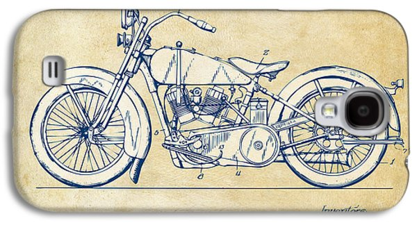 Engineer Galaxy S4 Cases - Vintage Harley-Davidson Motorcycle 1928 Patent Artwork Galaxy S4 Case by Nikki Smith
