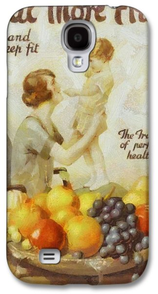 Little Girls Mixed Media Galaxy S4 Cases - Vintage Health Ad Galaxy S4 Case by Dan Sproul