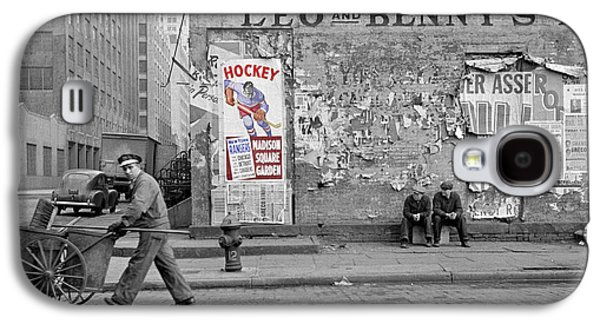 Hockey Photographs Galaxy S4 Cases - Vintage Hockey Poster Galaxy S4 Case by Andrew Fare