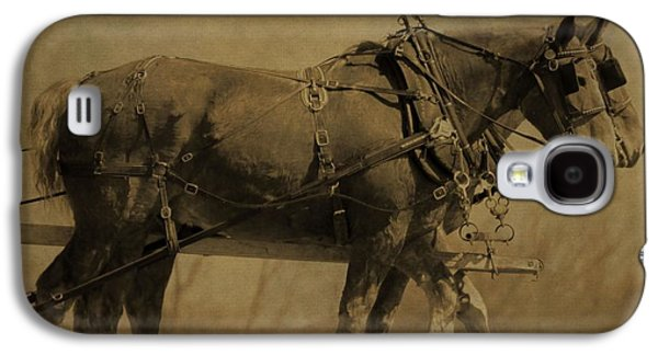 Walking Mixed Media Galaxy S4 Cases - Vintage Horse Plow Galaxy S4 Case by Dan Sproul