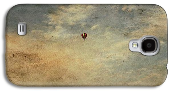 Free Mixed Media Galaxy S4 Cases - Vintage Hot Air Balloons Galaxy S4 Case by Dan Sproul