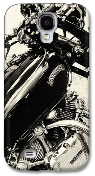 Series Photographs Galaxy S4 Cases - Vintage HRD Vincent Series C Black Shadow Galaxy S4 Case by Tim Gainey