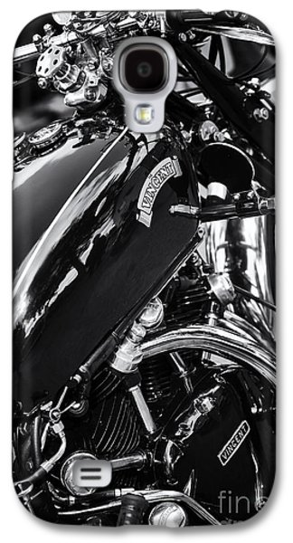 Series Photographs Galaxy S4 Cases - Vintage HRD Vincent Series D Monochrome Galaxy S4 Case by Tim Gainey