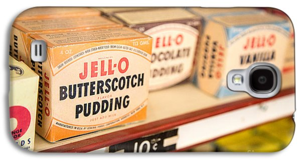 Grocery Store Galaxy S4 Cases - Vintage Jell-O Butterscotch Pudding Galaxy S4 Case by Edward Fielding