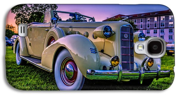 Setting Sun Galaxy S4 Cases - Vintage LaSalle Convertible Galaxy S4 Case by Edward Fielding
