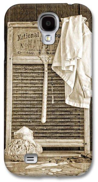 Folk Art Photographs Galaxy S4 Cases - Vintage Laundry Room Galaxy S4 Case by Edward Fielding