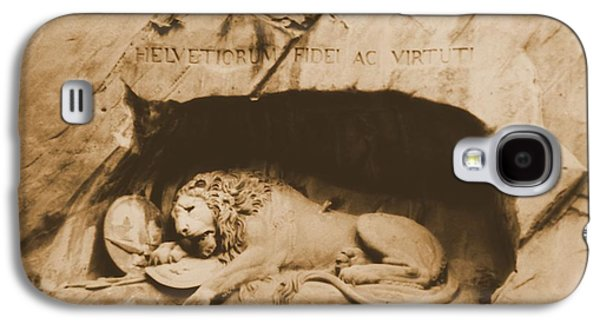 Lucerne Galaxy S4 Cases - Vintage Lion Of Lucerne Galaxy S4 Case by Dan Sproul