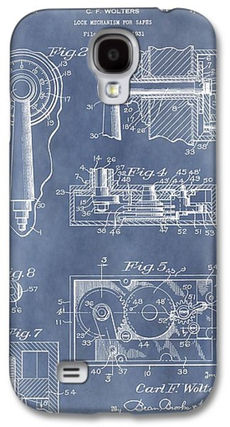 Mechanism Galaxy S4 Cases - Vintage Lock Patent Galaxy S4 Case by Dan Sproul